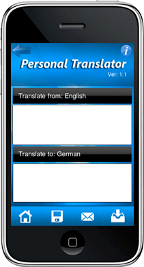 Personal Translator - Blackberry Application Development